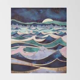 Moonlit Ocean Throw Blanket