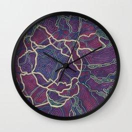 Purple Veins (2) Wall Clock