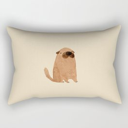 Brown Doggy Rectangular Pillow