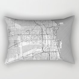 Chicago Map Line Rectangular Pillow