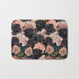 Because Black Pug Bath Mat