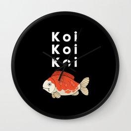 KOI KOi KOI Aquarist Gift Wall Clock