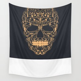 Skull ornament Wall Tapestry