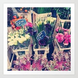 Flower Market in London Art Print