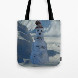 Funny Snowman Tote Bag