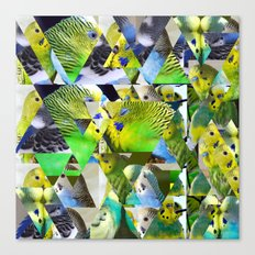 Triangles5 - Parakeets Canvas Print