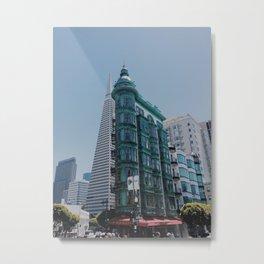 Buildings on Buildings Metal Print