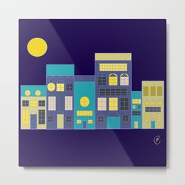 Little houses by night Metal Print