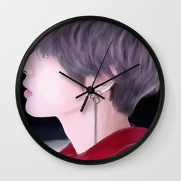 DNA V- (With Line Work) Wall Clock