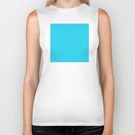 Blue Aqua (Bleu Aqua) Tres Petit Geometric Pattern Biker Tank