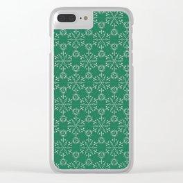 Hexagonal Circles - Emerald Clear iPhone Case