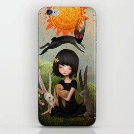 My Heart has Joined the Thousand, for my friend stopped running today. iPhone Skin