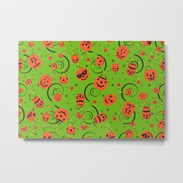Halloween Magic- Green Metal Print