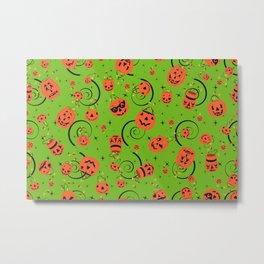 Halloween Magic- Green Metal Print