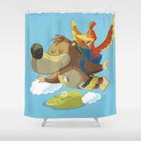 banjo Shower Curtains featuring Banjo by Rod Perich