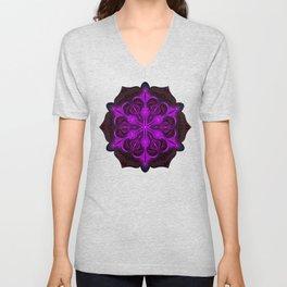 Spaceborne Orchid Snowflake Unisex V-Neck