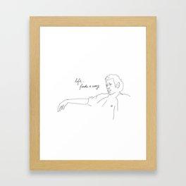 Jeff Goldblum, Life Finds a Way Framed Art Print