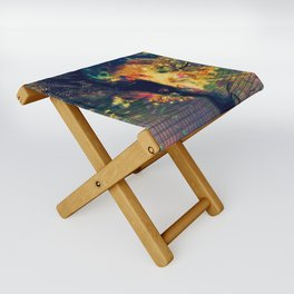 Portrait of a Woman: We Are Flowers Folding Stool