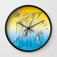 theater Wall Clocks featuring Theater by Boris Burakov