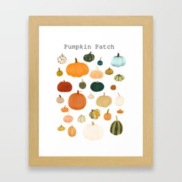 Pumpkin Patch Season Framed Art Print
