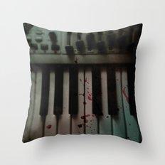 Music.Death.Analog Throw Pillow