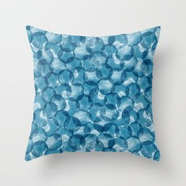 Stamp dots pattern Throw Pillow