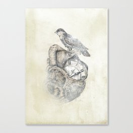 FlutterHeart Canvas Print