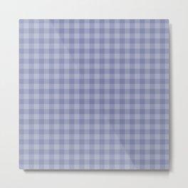 Blue gray simple plaid patterns . Metal Print