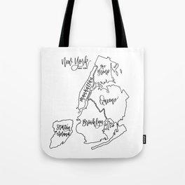 NYC Boroughs Tote Bag