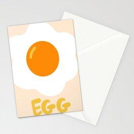 Egg orange Stationery Cards
