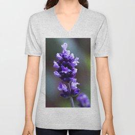 lavender flower Unisex V-Neck