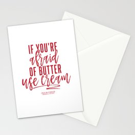 Afraid of Butter (Red) Stationery Cards