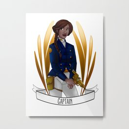 Steampunk Occupation Series: Captain Metal Print