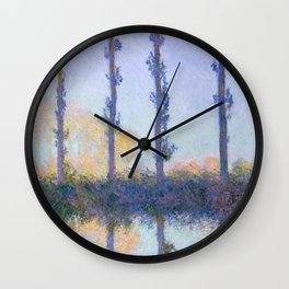 """Claude Monet """"The Four Trees"""" Wall Clock"""