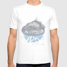 Cloud Splash Emoji MEDIUM Mens Fitted Tee White