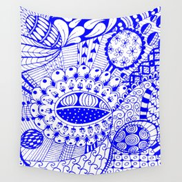 Leander Blue Wall Tapestry