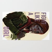 the last of us Area & Throw Rugs featuring Ellie the last of us by Rzuud