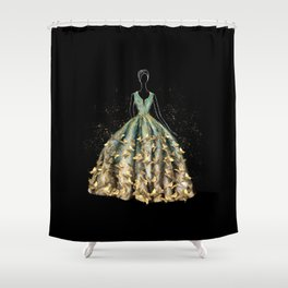 Evening Gown Fashion Illustration #3 Shower Curtain