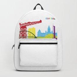 Glasgow skyline pop Backpack