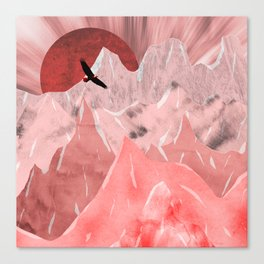 The red mountains Canvas Print