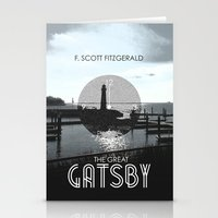 the great gatsby Stationery Cards featuring The Great Gatsby by Tanner Wheat