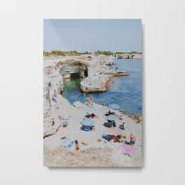 Summer Coast II / Torre Sant'Andrea, Italy Metal Print