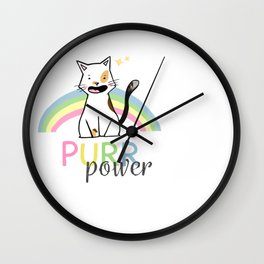 CAT PURR POWER Wall Clock