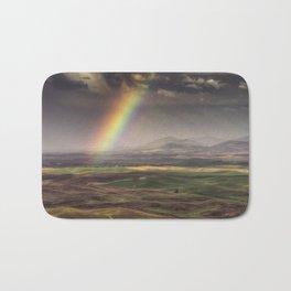 Rainbow over the Palouse Bath Mat
