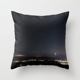 Arizona Desert Night Sky Stars Throw Pillow