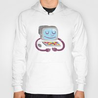 computer Hoodies featuring Computer guy by Kid Space Originals