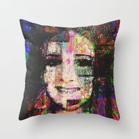 hayley williams Throw Pillows featuring Hayley by brett66