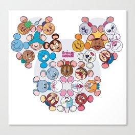famous mouses Canvas Print