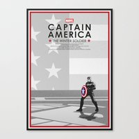 steve rogers Canvas Prints featuring Steve Rogers  by Samantha Panther