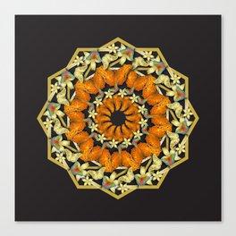 Kaleidoscope of butterflies and flowers Canvas Print